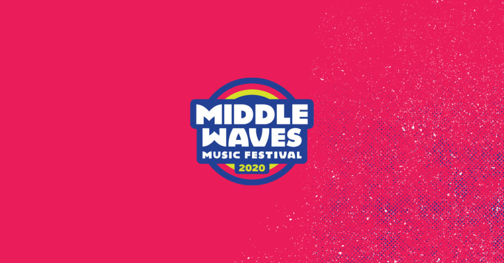 Middle Waves 2020 Logo on Pink Background